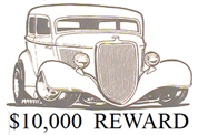 Reward for Stolen 1934 Ford 2 Door Sedan Street Rod